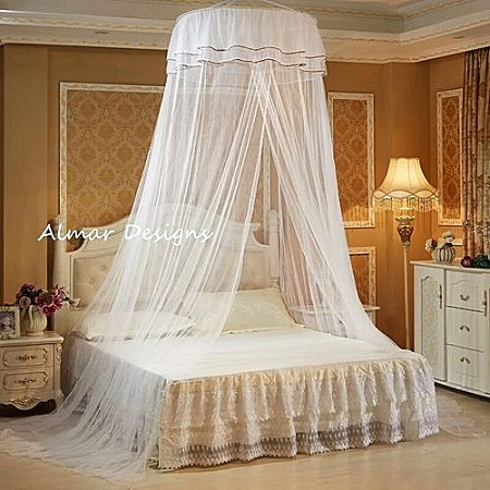 Net Round Double Decker Mosquito Net - Free Size - White