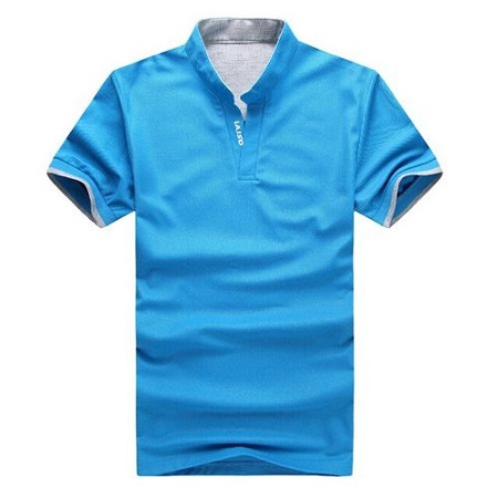 New Polo Collar Shirt with Short Sleeve for Men