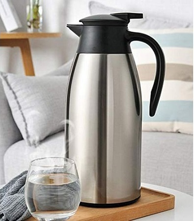Unbreakable Vacuum Flask- 2.1Ltrs silver