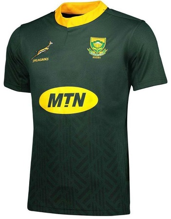 South Africa Springboks Men's Home Rugby Jersey 2018 Dark Green