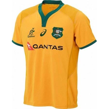 Australia Wallabies 2018/19 Men's Replica Rugby Jersey Yellow (Wallabies Gold)