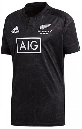 New Zealand All Blacks 7's Replica Rugby Jersey 2018 - Black