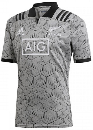 New Zealand All Blacks 2018 Replica Training Jersey Grey/Black