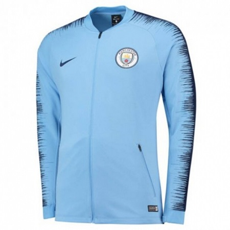 Manchester City Unisex Authentic REPLICA Anthem Trainer Jacket 2018-2019 Home