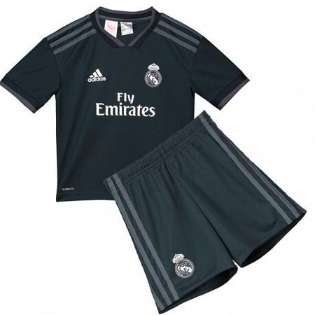 The New 2018-2019 Kids/Children Real Madrid Away Kit REPLICA Football Jersey & Short Away Polyester