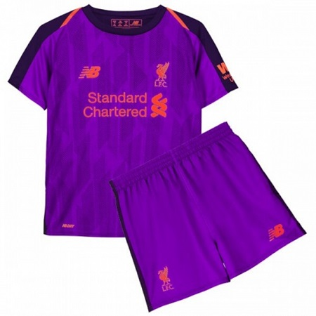 The New 2018-2019 Kids/Children Liverpool Away Kit REPLICA Football Jersey & Short Away Polyester