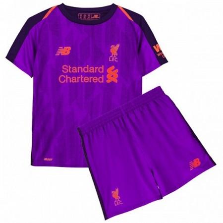 The New 2018-2019 Kids/Children Liverpool Away Kit REPLICA Football Jersey & Short Away Polyester
