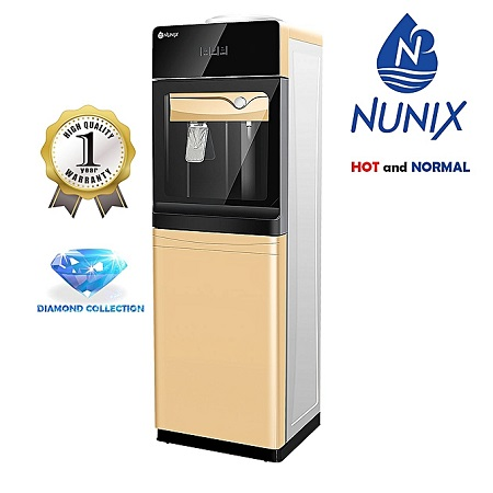 Nunix Hot and Normal Free Standing Water Dispenser- Champagne Gold