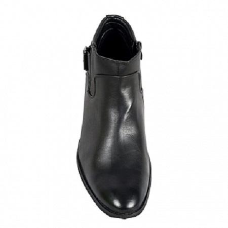 Men formal ankle boots black