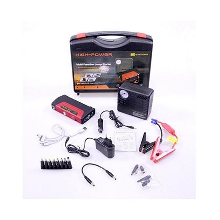 High Power 16800mah Power Bank Battery Booster Car Jump Start Starter 12V Portable Jump Starter With Air Compressor TM-15A