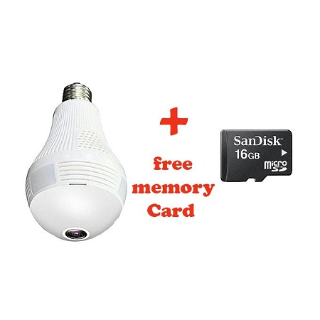 Panorama Camera Bulb-CCTV bulb Plus Free 16gb Memory Card