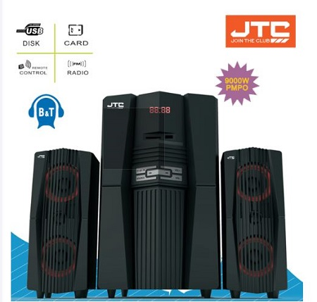 JTC J608T 2.1CH 9000W PMPO Multimedia Speaker System Bluetooth Subwoofer- Black