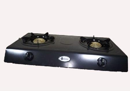 Nunix Table Top Gas Cooker Stainless Steel- Black