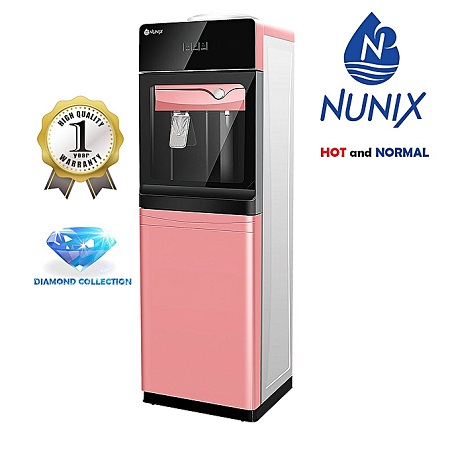 Nunix Hot and Normal Free Standing Water Dispenser- Rose Gold