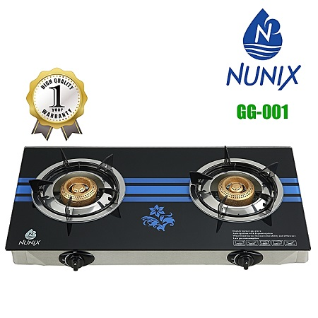Nunix GG-001 - Tampered Glass Gas Table Cooker