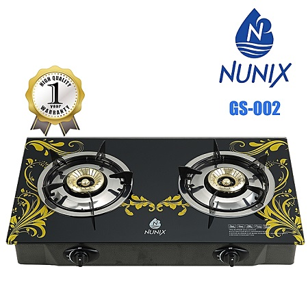 Nunix GS-002 - Tampered Glass Gas Table Cooker