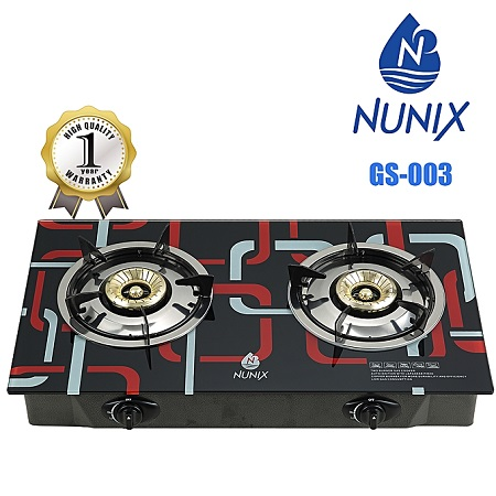 Nunix GS-003 - Tampered Glass Gas Table Cooker