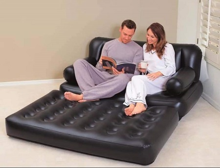 2 Seatear Inflatable Sofabed with pump