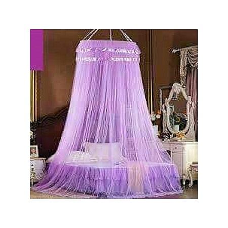 Round Mosquito Net- Purple