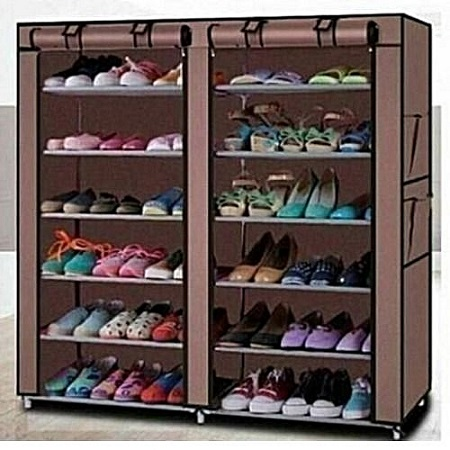 Two Column Shoerack-Brown