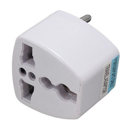 AS Universal Power 2 Pins Travel Converter Adaptor Charger Plug - White