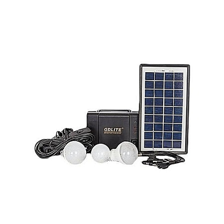 Gdlite GD 8006A - Solar Panel, LED lights and phone charging Kit