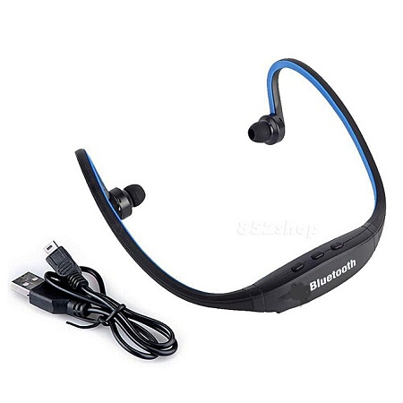 Bluetooth Sport Headset Earphone Universal with MIC in Ear for Smartphone -Black And Blue