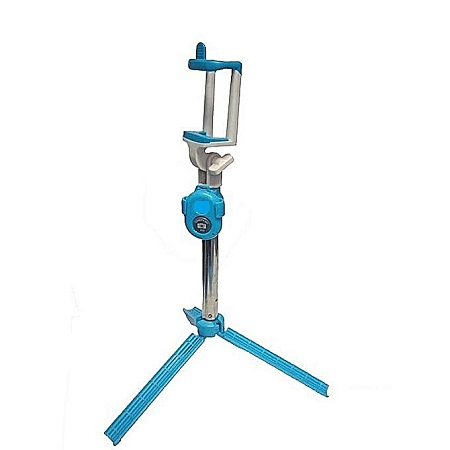 Selfie Booth Bluetooth Selfie Stick With Tripod Stand - Blue