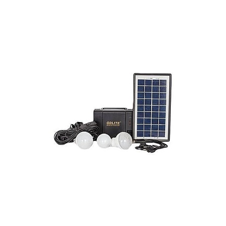 GDLITE GD-8006A- Elegant Solar Lighting System - Black