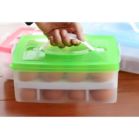 24 Bilayer Eggs Organizer Container for the Refrigerator
