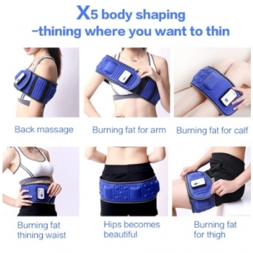 Slimming Belt X5 Times Electric Vibration Massage blue