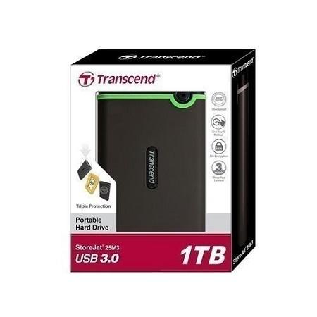 External Hard Disk Drive USB 3.0 - 1TB - Grey black