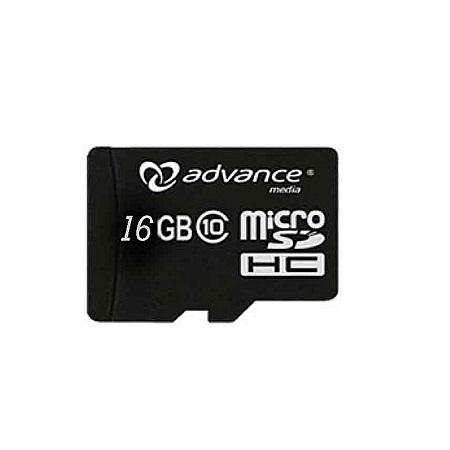 Advance Micro SD Card - 16GB Standard with Adaptor - Black
