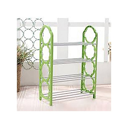 5 Layer Portable Foldable Shoe Rack - Green