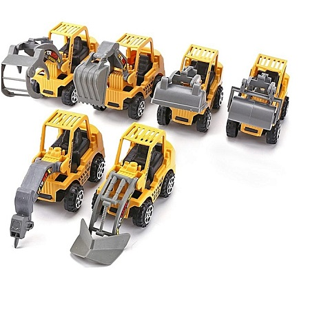 6pcs Vehicle Sets Construction Kit Kids Mini Engineering Car