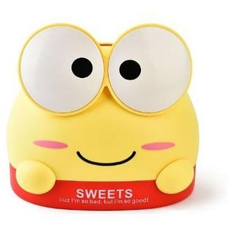 Frog Cartoon Sweets Holder/Paper Towel Tissue Box And Roll Holder Organiser - Yellow