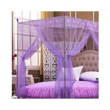 Mosquito Net With Metallic Stand- Purple