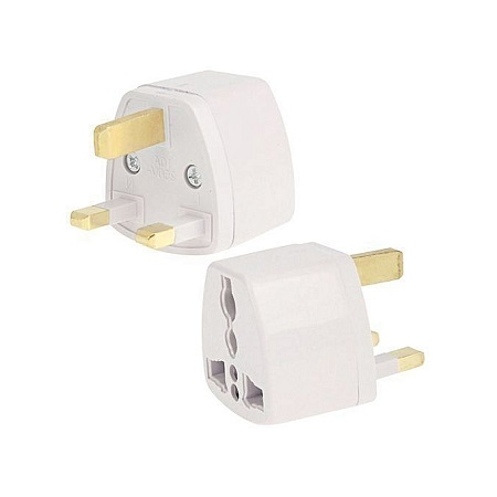 2PCS Plug Adapter, Travel Power Adaptor white