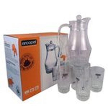 Classy Drinking Glass Set crystal 7 pcs set