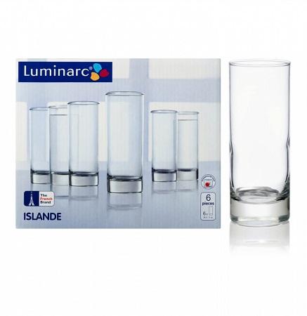 Luminarc Islande Hiball Tumbler Set 290 ml Drinking Glass - Set of 6