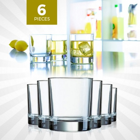 Luminarc Islande Tumbler Set 20cl/6.75oz Whiskey Drinking Glass - Set of 6