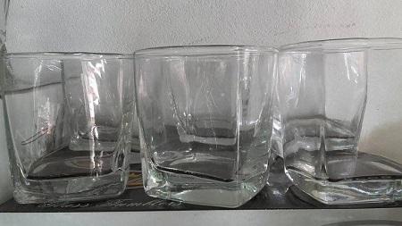 unique Whiskey glasses set crystal 6 pcs