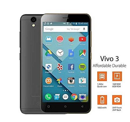 Gtel VIVO 3: 4.7 inch, 8GB, 1GB RAM, Dual SIM - Black