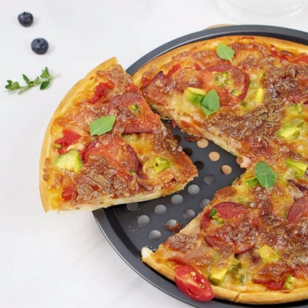 Carbon Steel Non-stick Pizza Pan 12 Inch