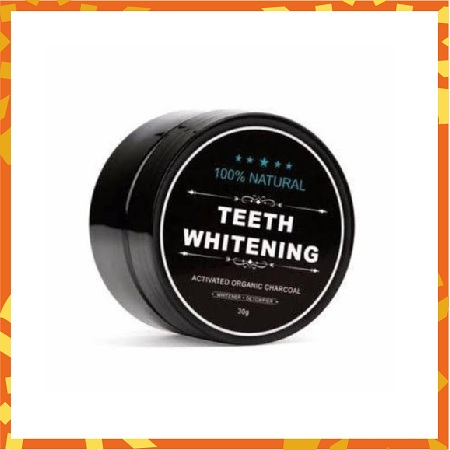 Natural Teeth Whitening Powder with Activated Organic Charcoal - 30g Black