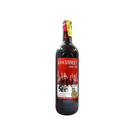 4th Street Natural Sweet Red Wine 750 Ml.