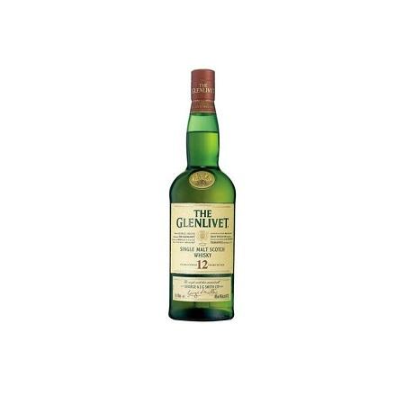 The Glenlivet Single Malt Scotch Whiskey,12 Years Old -750ML