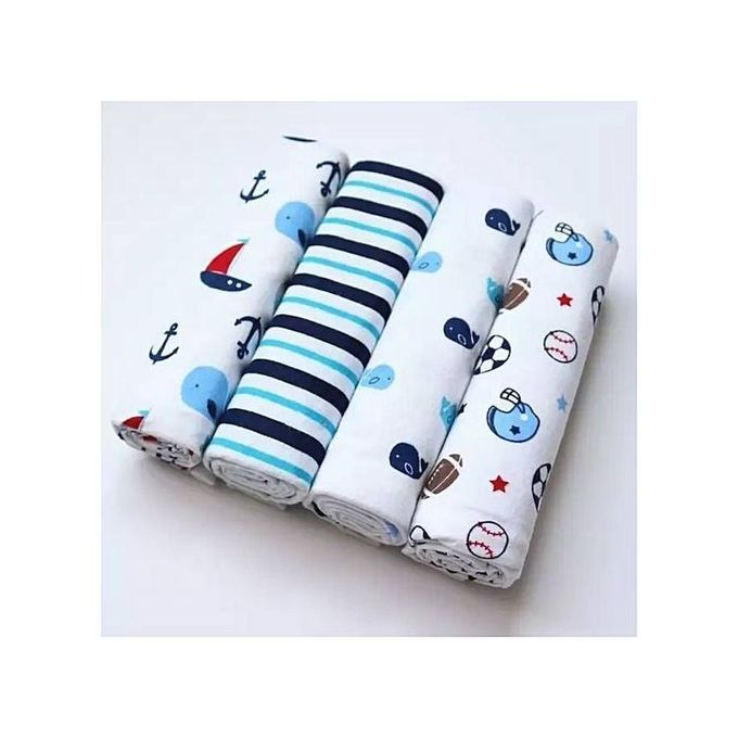 4 In 1 Cotton Flannels / Receiving Blankets