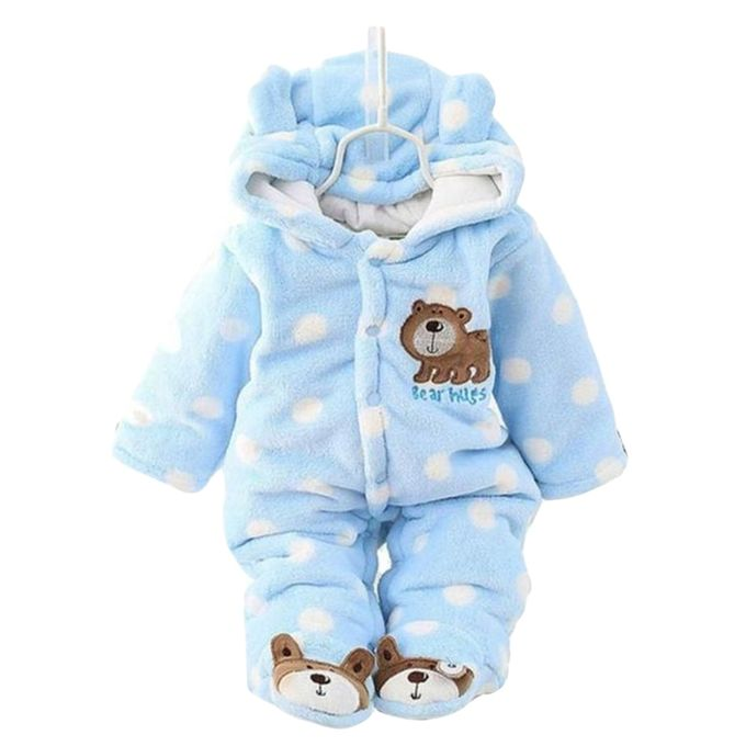 Warm Baby Rompers - Blue