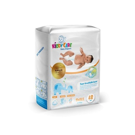 KIDDYCARE Baby Diapers New Born (Small, 4-8 Kgs) 48 Pieces